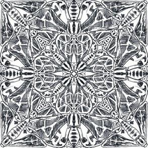 Black & White Kaleidoscope of Moths