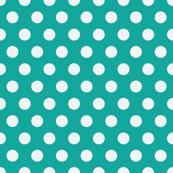 Teal polka dots