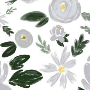 silver bells wintry florals