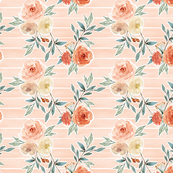 romantic bloom floral // barely blush pink striped