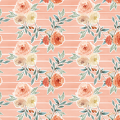 romantic bloom floral // strawberry pink lined