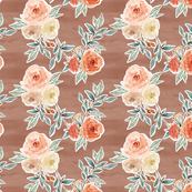 romantic bloom floral // hot chocolate brown