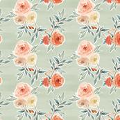 romantic bloom floral // light sage green