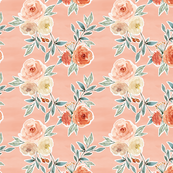 romantic bloom floral // strawberry pink