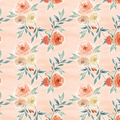 romantic bloom floral // barely blush pink
