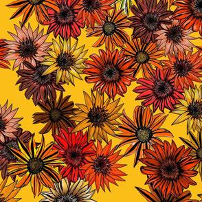 Garden Bed of Yellow
