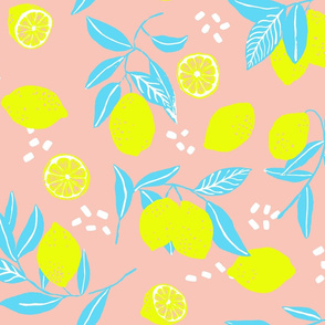 Fresh like a lemon on salmon pink