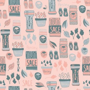 Herbs in pink