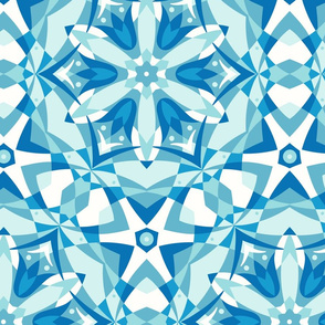 Art Nouveau Kaleidoscope blues