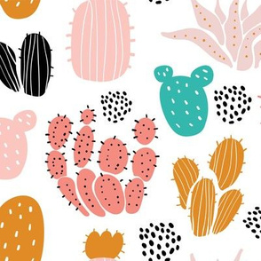 Cactuses and succulents minimalistic scandinavian design