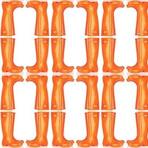 Orange Wellies Mirror