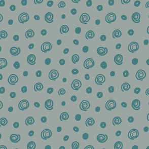 Fall Circles Teal