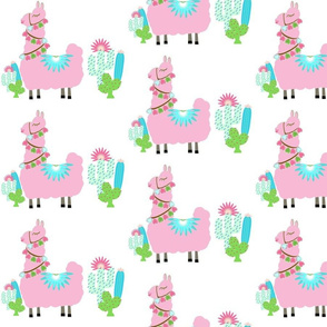 Fancy light pink MED 7 Glammy LLAMA cactus