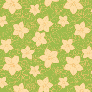 Orange blossom green and yellow