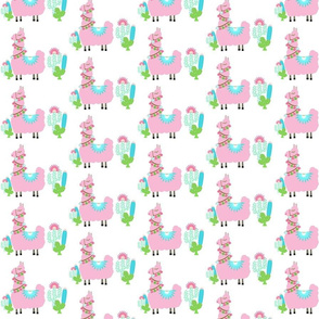 Fancy light pink SMALL 4 Glammy LLAMA cactus
