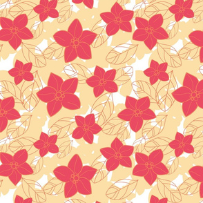 Orange blossom red and yellow