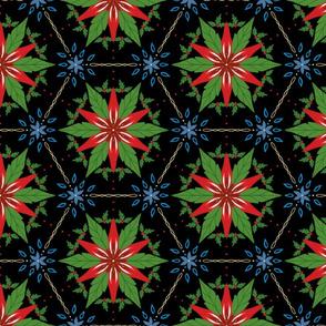 Christmas Kaleidoscope on black