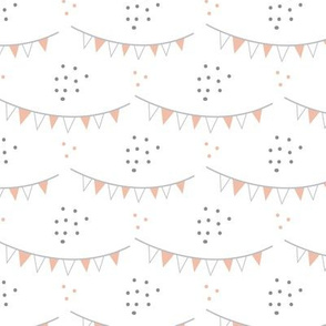 Flags and dots nursery pattern
