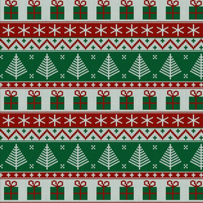 Christmas knit green (small scale)