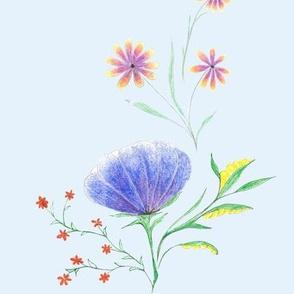 Blue Pencil Flowers