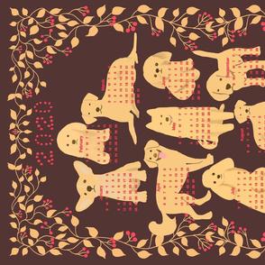 2020 calendar - Dog illustration