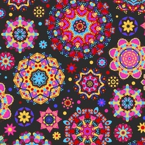 candy colored kaleidoscope