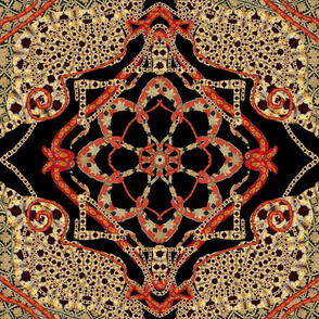 Asian Kaleidoscope 18 x 18