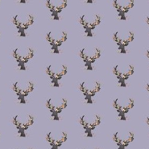 "1.5"" Autumn Deer in Dusty Lilac"