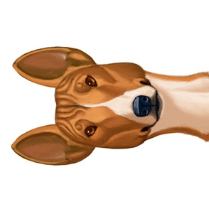 Basenji Cartoon Caricature
