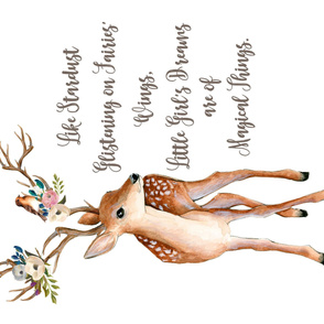 "54""x36"" Sweet Friends Deer Stardust Quote"