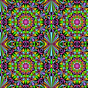 Kaleidoscope Burst Black Small