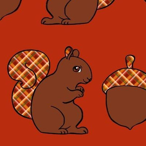 Squirrel Border print