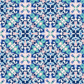 abstract kaleidoscope/dark blue background