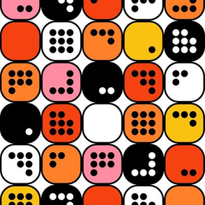 Girly Mathematical Boxes with Dot Numbers 0 through 9