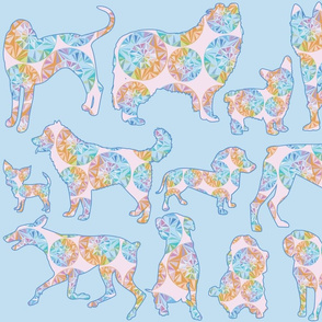 Dogs Kaleidoscope Rainbow