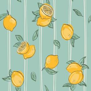 Lemon on green