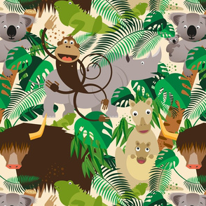 Animals in the Jungle – Wallpaper