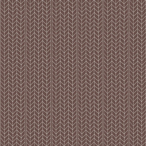 Brown and white herringbone