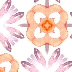 RETRO WATERCOLOR FLOWERS
