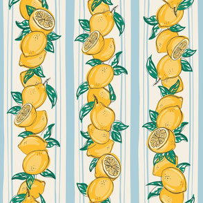 Lemon lines blue