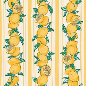 Lemon stripes yellow