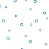 White Snowflake Stars