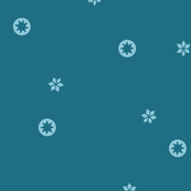 Dark Blue Snowflake Stars | LARGE