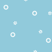 Light Blue Snowflake Stars | LARGE