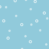 Light Blue Snowflake Stars