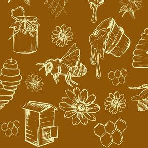 Bees and Honey Nature Orange