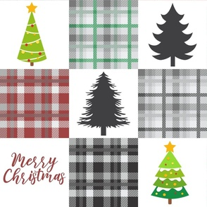Merry Christmas Plaid Quilt Red and Green