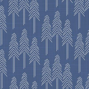 Forest - Pine Trees Cobalt