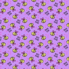 (micro scale) Bee Mine - Purple - valentines day C19BS