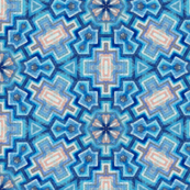 Gatsby aztec snowflake in turquoise